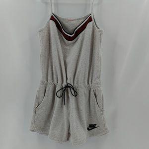Nike terry coth romper shorts A02303-051 drawstrin